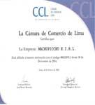 Certificado Camara de Comercio de Lima