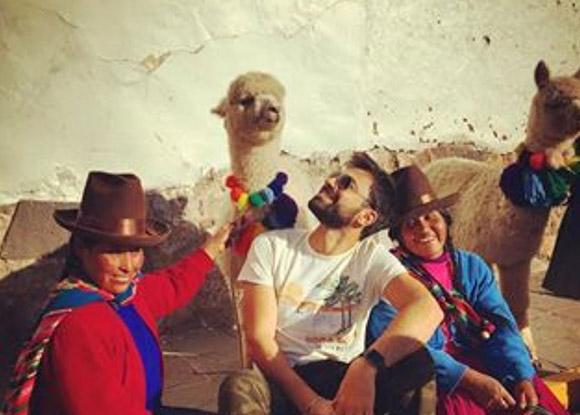 Machu Picchu y Urubamba fue visitada por protagonista principal de Brusko Andreas Georgiou