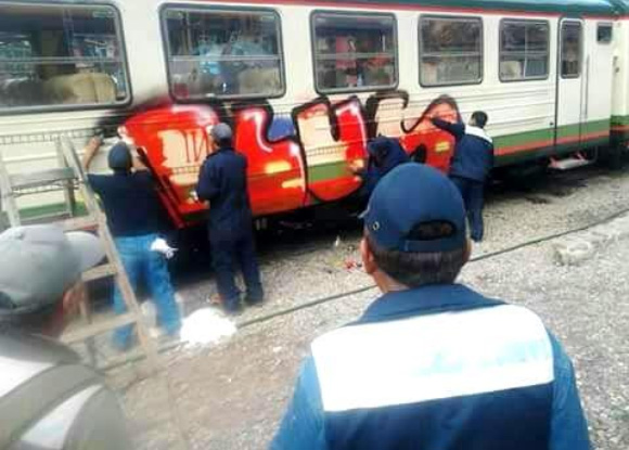 grafiti en vagones inka rail