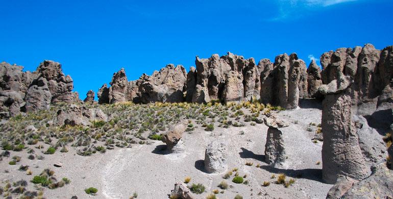 Asómbrate con el impresionante bosque de piedras de Imata