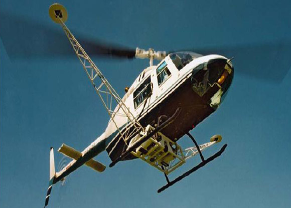 El sobre vuelo del Helicoptero se hizo con fines cientificos