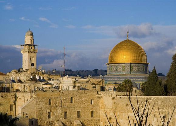 La  ciudad de Jerusalén en Israel.