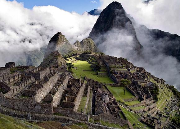 La  ciudadela Inca de Machu Picchu en Perú.