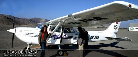 Avioneta para conocer la líneas de Nazca