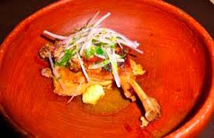 Ceviche con pato de Ancash