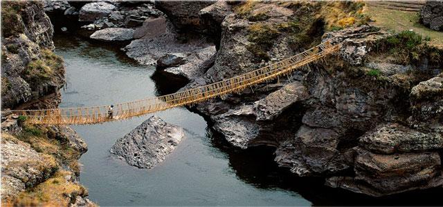 Camino Inca - Capac Ñan -puente de Qeswachaca