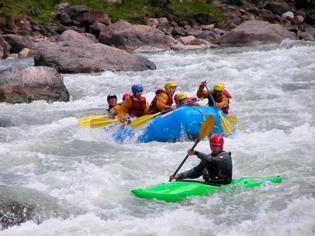 Rafting en el río Vilcanota