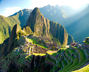 Panoramic view of Machupicchu
