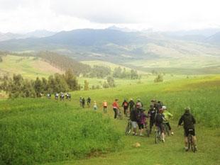 paseo en bicicleta por el valle sagrado