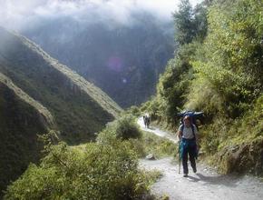 Vista en el Camino Inca a Machupicchu