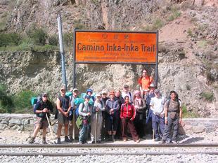 Inicio del Camino Inca a Machupicchu