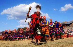 Guerreros en el Inti Raymi