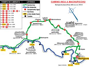 Mapa el Camino Inca