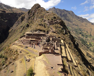 panoramic view of Pisac - intihuatana